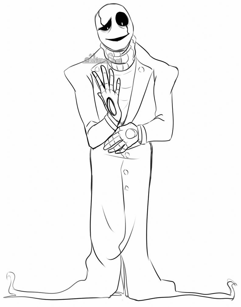 Undertale Gaster Tumblr Sketch Coloring Page