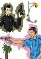 GTA sketches by Llewxam888