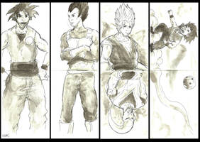 Dragonball Ink Wash by Llewxam888