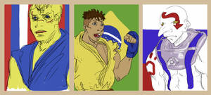 France, Brazil, Russia by Llewxam888