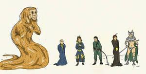 God Emperor of Dune doodles