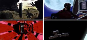 2001: A Space Odyssey screencap studies by Llewxam888