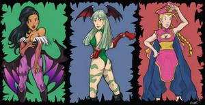 Street Fighter X Darkstalkers