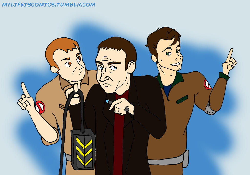 The Real Ghostbusters Meet The Doctor by Teenfox77