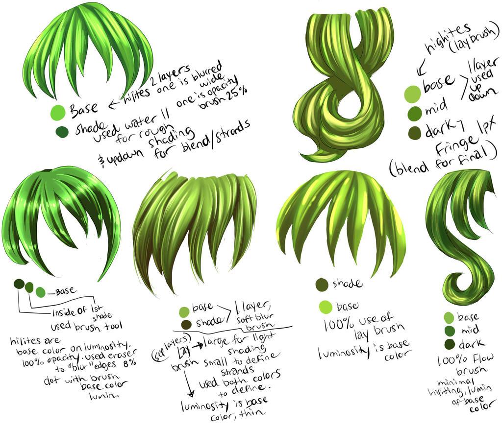 Hair part 2 by DarkVow