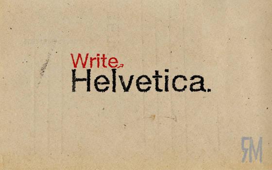 write helvetica