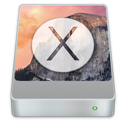Apple Mac OS X Yosemite System Disk Icon
