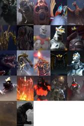Godzilla PS4 Intro Monsters