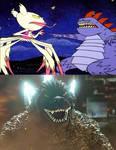 Godzilla vs Monstory Deedee and Dexter
