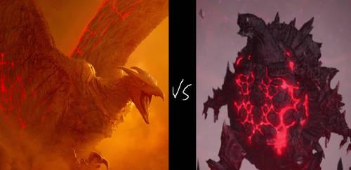 Rodan 2019 vs Tokka TMNT 2012 by MnstrFrc
