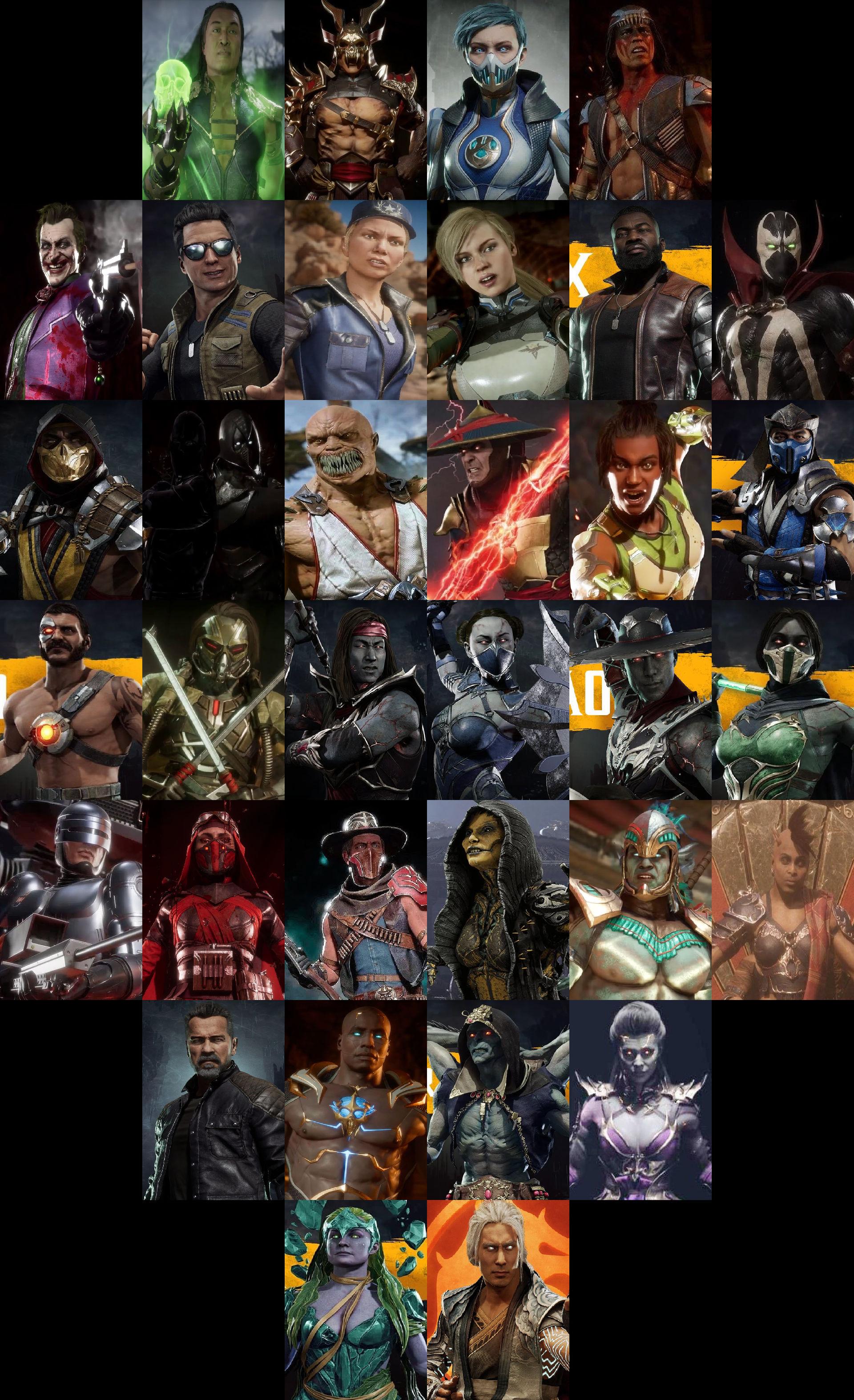 Mortal Kombat 11 Aftermath Characters By Mnstrfrc On Deviantart