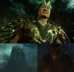 Godzilla and Kong vs Shang Tsung