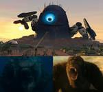 Godzilla and Kong vs Robt Probe