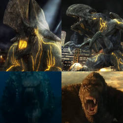 Godzilla and Kong vs Axehead and Bladehead
