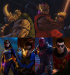 Gotham Knights vs Bebop and Rocksteady