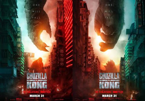 Godzilla vs Kong One Will Fall Posters