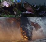 Tutisasaurus and Gatorsaurus vs Skull Devil