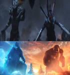 Godzilla and Kong vs Monster X and Gigan