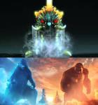 Godzilla and Kong vs Battra (Larva)