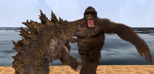 Godzilla Kicked Kong in the--