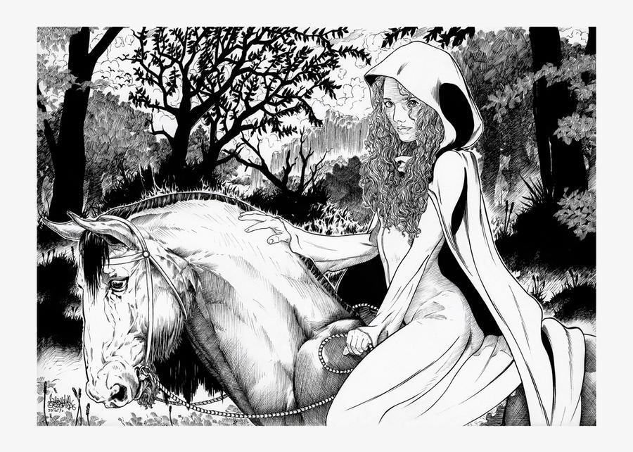Queen Merida by garnabiuth