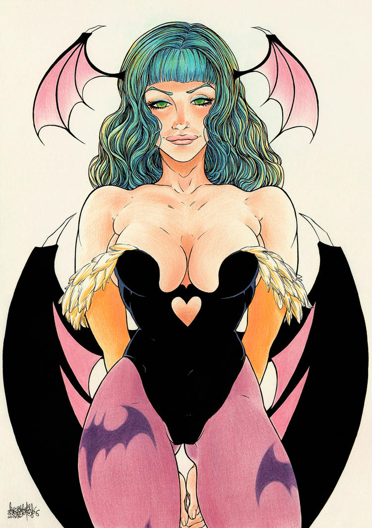 Morrigan Aensland color by garnabiuth