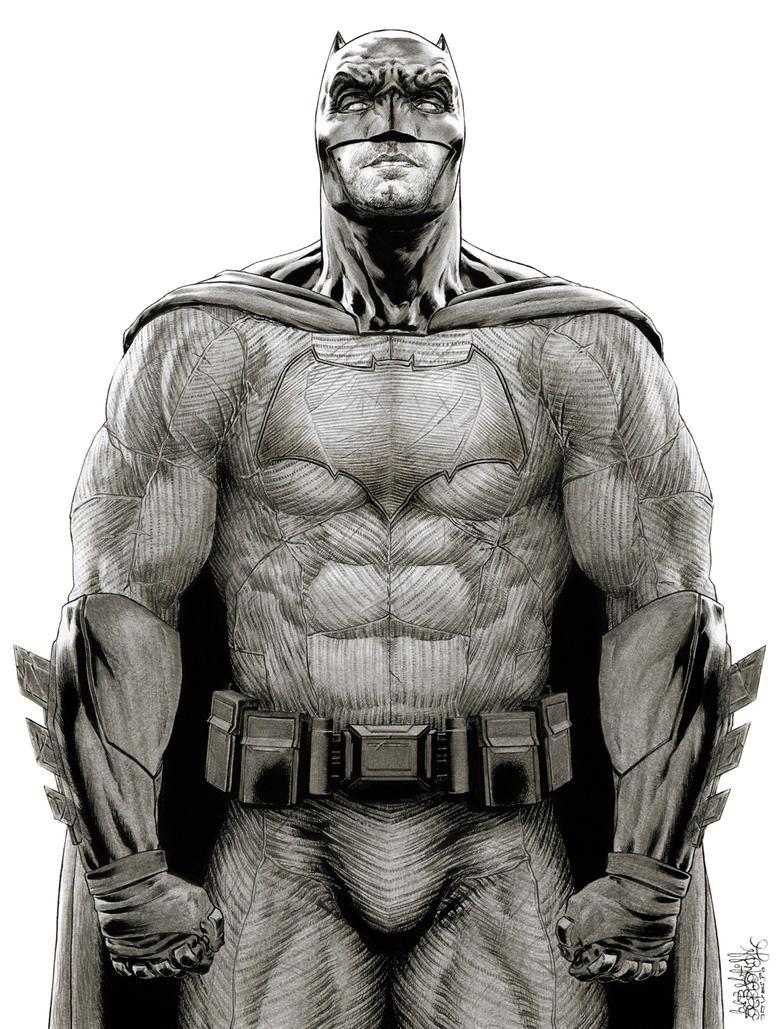 Batman Ben affleck Dawn Of Justice by garnabiuth