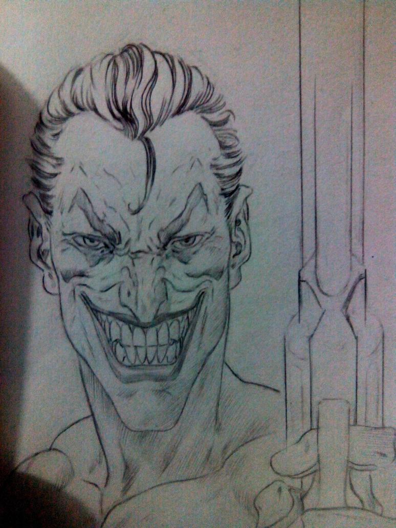 Joker Sketch by garnabiuth