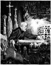 Antoni Gaudi by garnabiuth