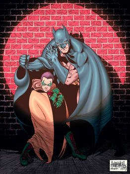 Batman and Robin Damian Wayne color