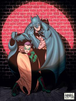 Batman and Robin Damian Wayne color