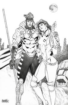 Gambit and Rogue X-Men