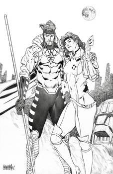 Gambit and Rogue X-Men