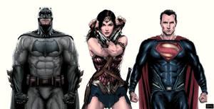 Batman V Superman Trinity color