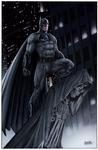 Batman on Gargoyle BVS color