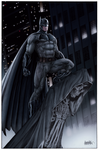 Batman on Gargoyle BVS color