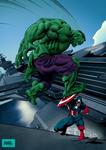 Hulk VS Captain America color