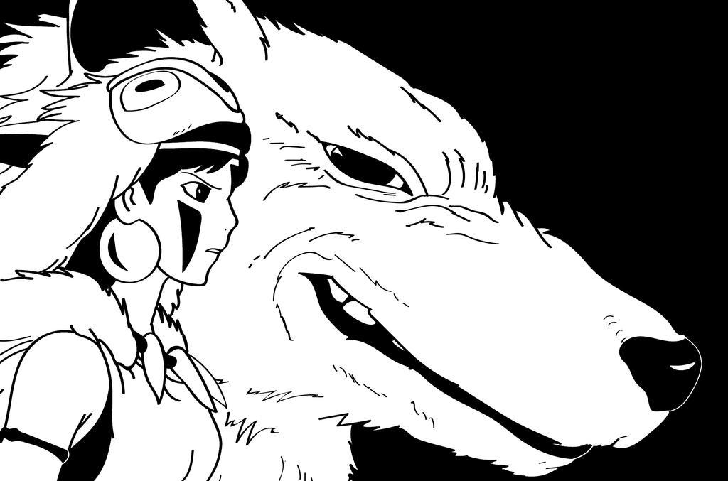 Princess Mononoke by Sinned1990PD