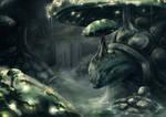 Mushroomturtle Landscape - Night
