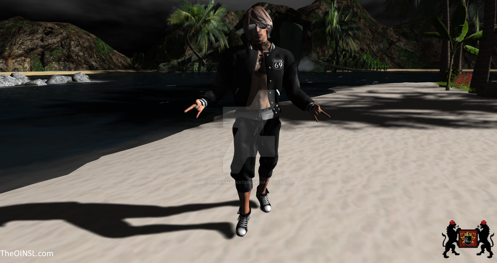 GQ - Route 69 Black - Second Life Clothing model by