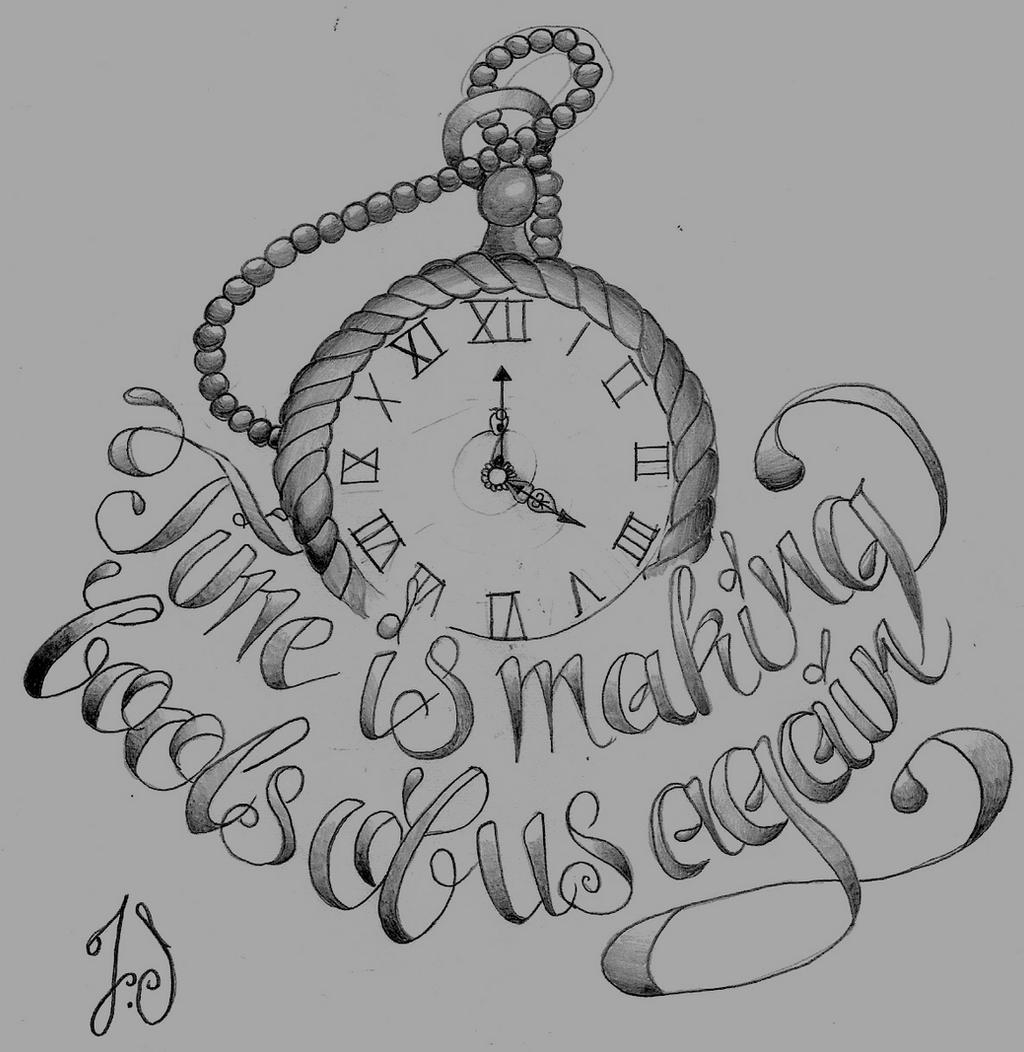 Pocket Watch Drawings: Pocket Watch Tattoo Design By Jacksaundersartist On DeviantArt