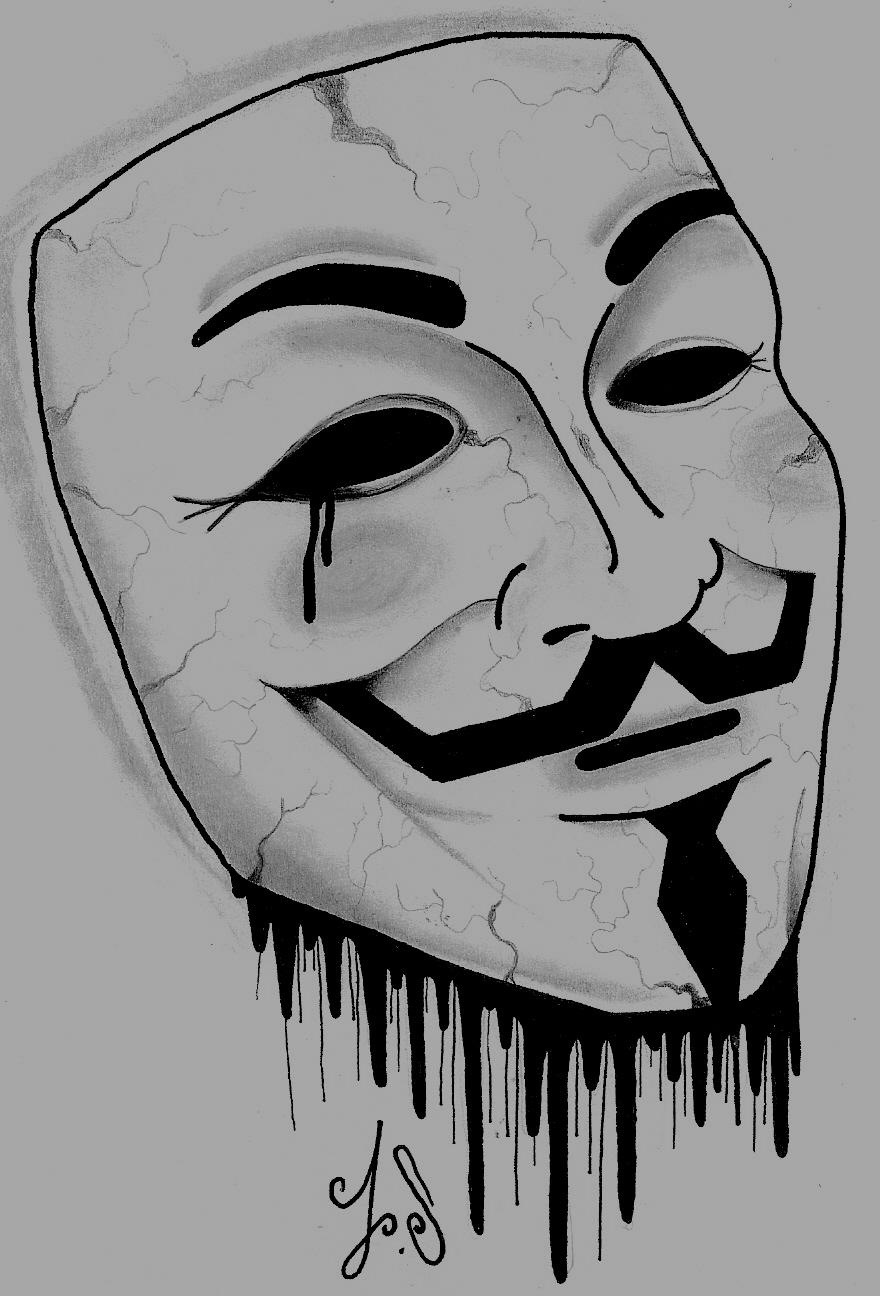 V For Vendetta Mask Drawing v for vendetta drawing...