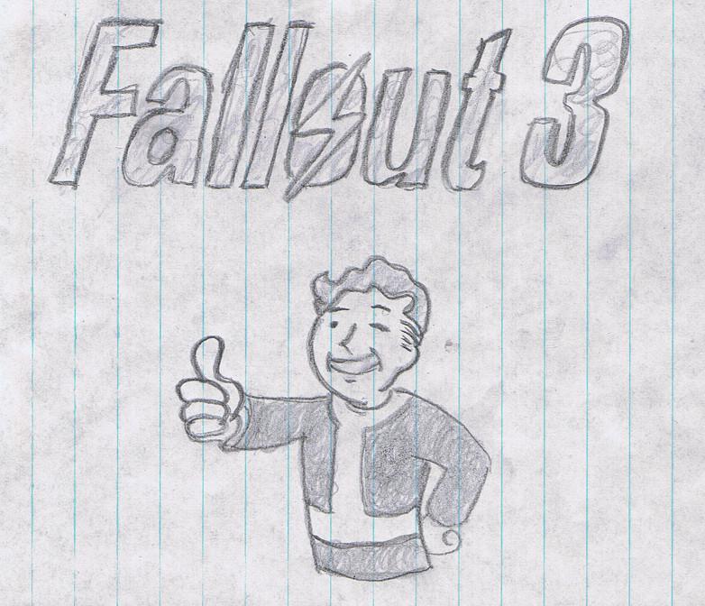 Vault Boy With Gun Vault Boy Fallout 3 by