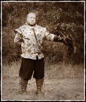 Falconry with phoenix old photo by Astanax