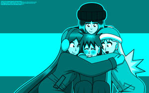 NCC: Winter Hug Wallpaper by Kitschensyngk
