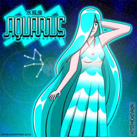 Aquarius the Waterbearer by Kitschensyngk