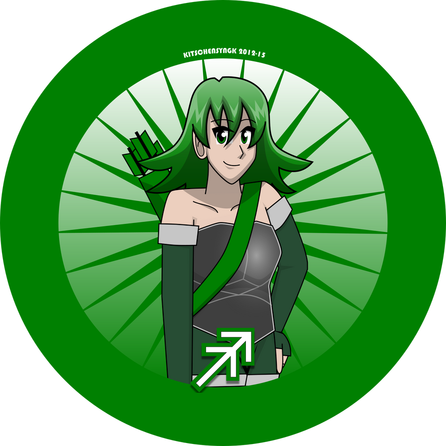 Sagittarius button by Kitschensyngk