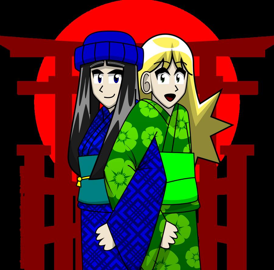 Kimono Friends by Kitschensyngk