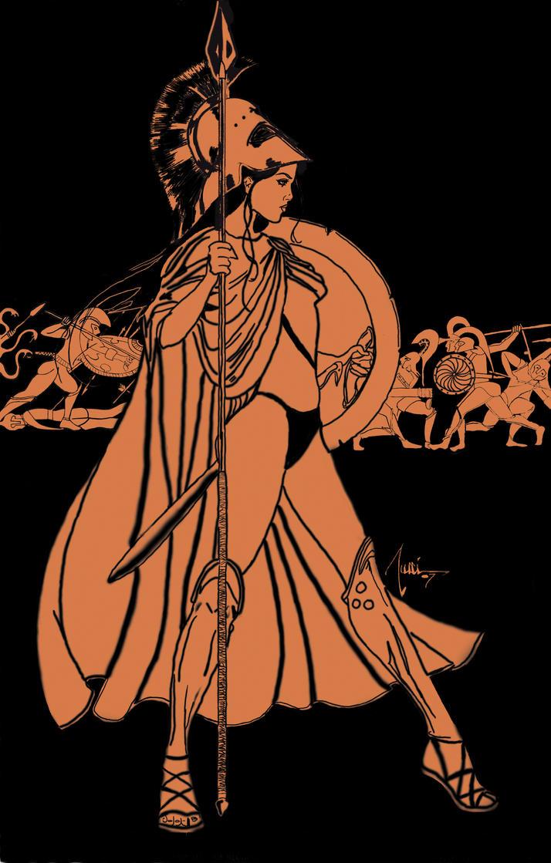 Greek Woman Warrior Shi Of Sparta Red Figu...