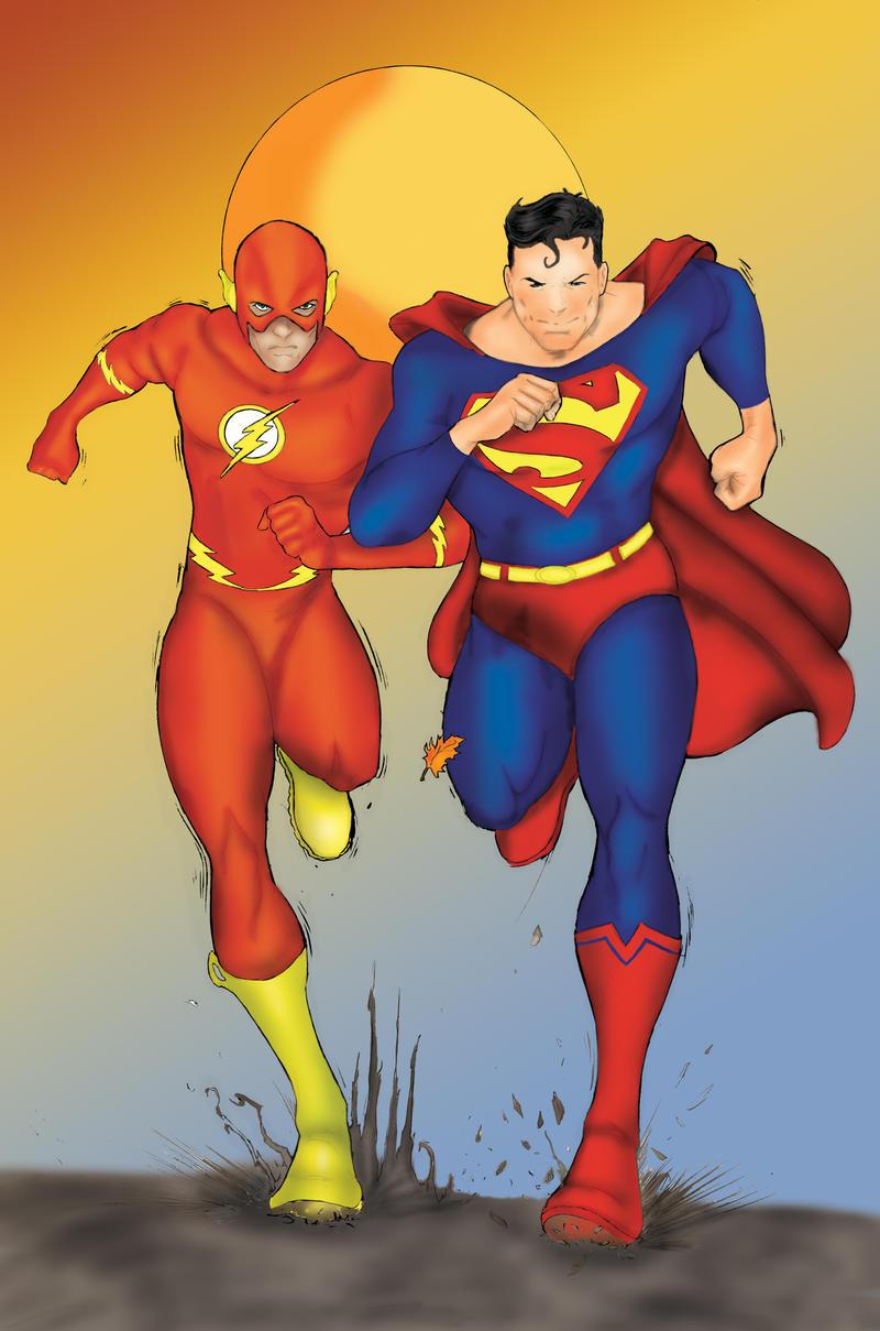 Superman vs Flash 1 by ThePrincessNightmare on DeviantArt